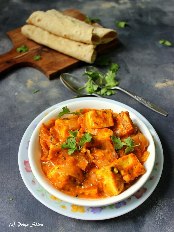 paneer do pyaza curry recipe