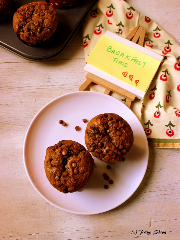eggless-coffee-chocolate-chip-muffin-recipe