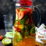 Strawberry Cucumber Iced Green Tea