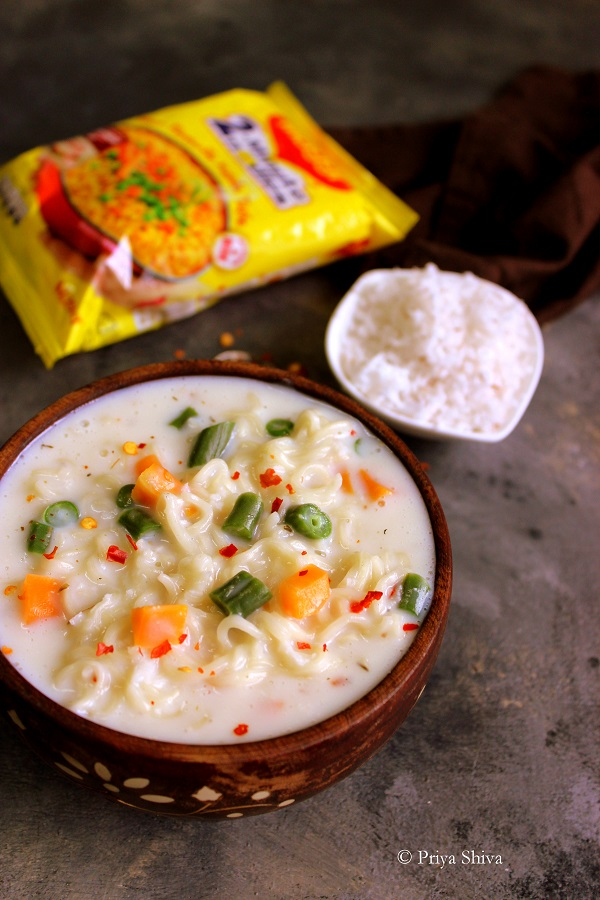 vegetable maggi in White Sauce recipe