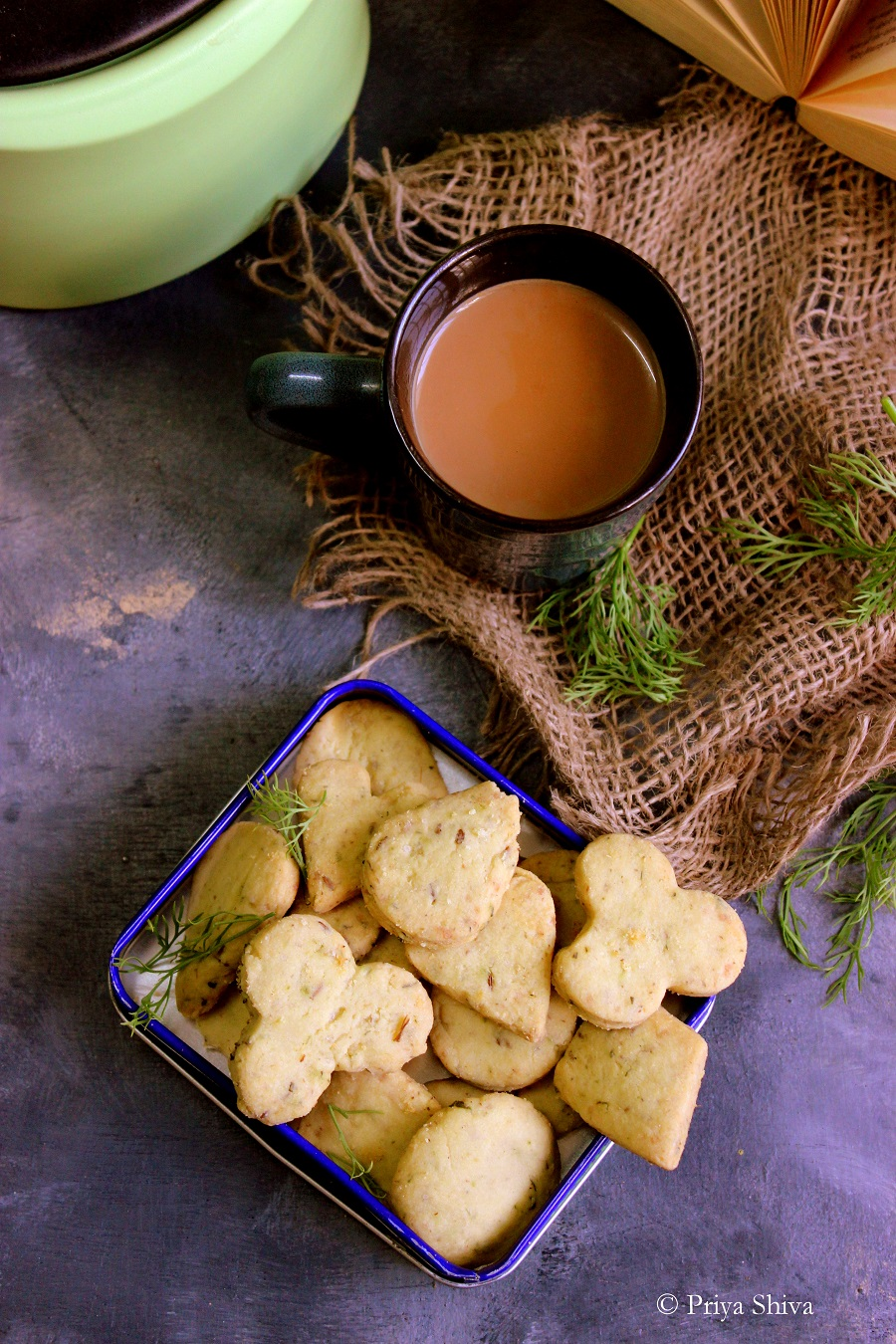 eggless dill leaves masala cookies