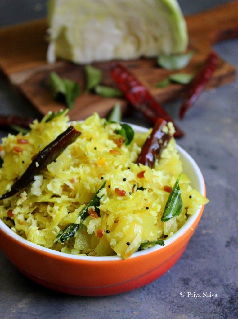 cabbage thoran recipe