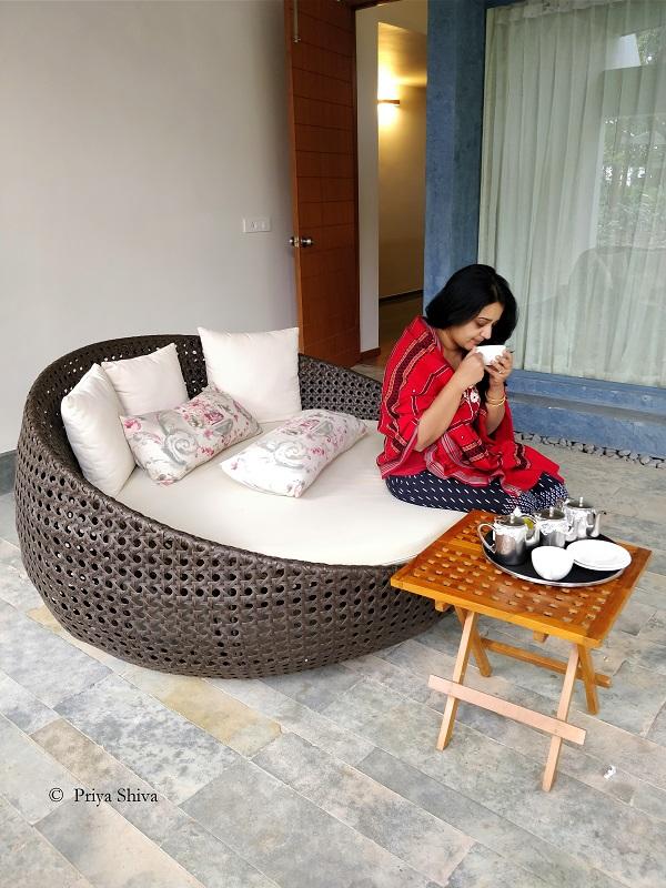 private balcony at java rain resort