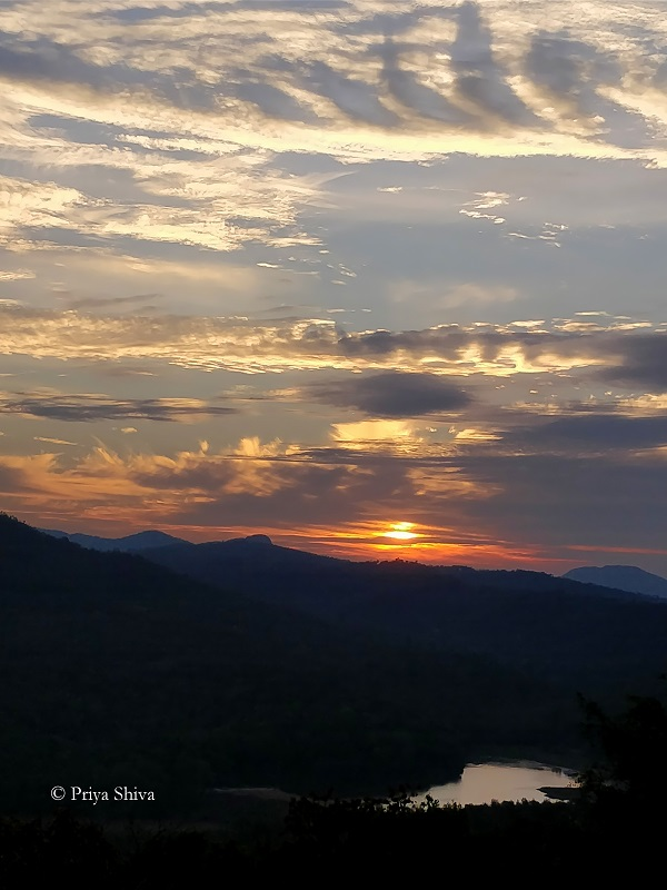sunset at Crimson point