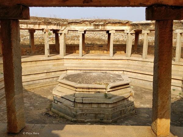Octagonal water pavilion hampi