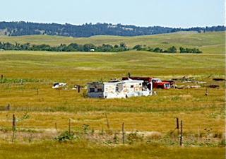Roadside view of residence on Pine Ridge