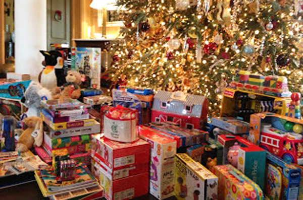 Toys brought to a Holiday Party!