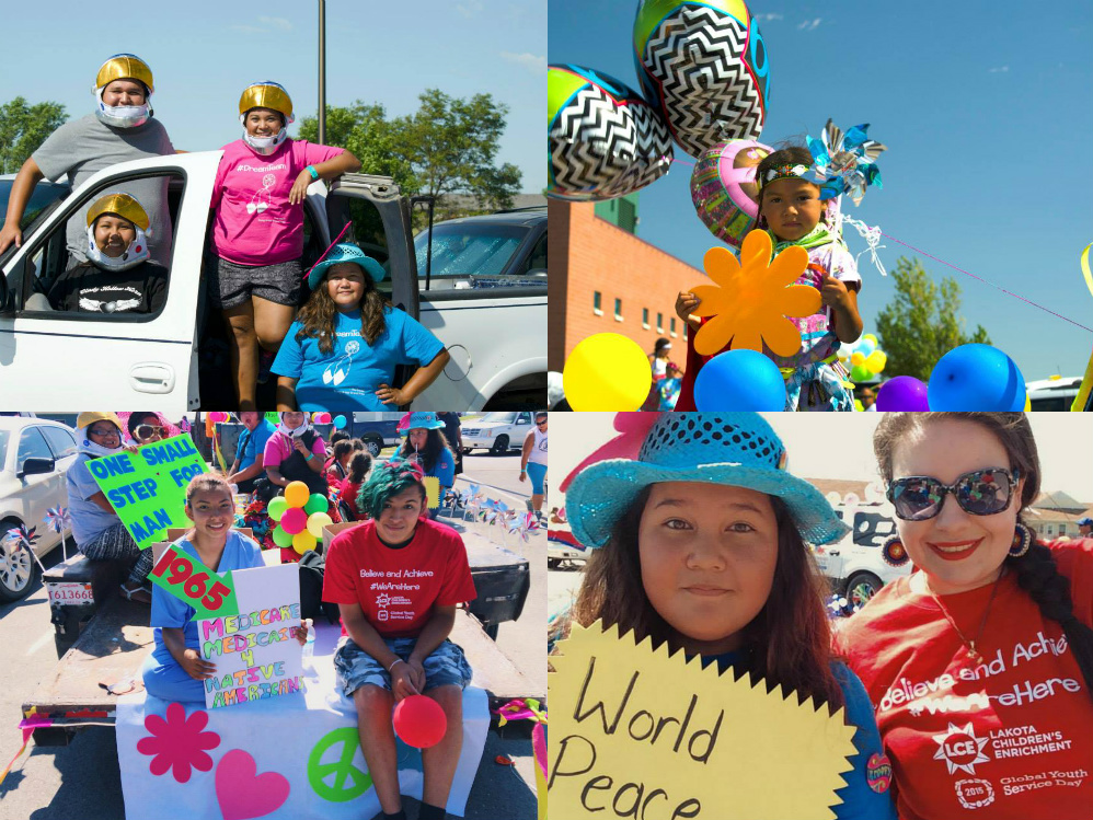 Oglala Lakota Parade Collage