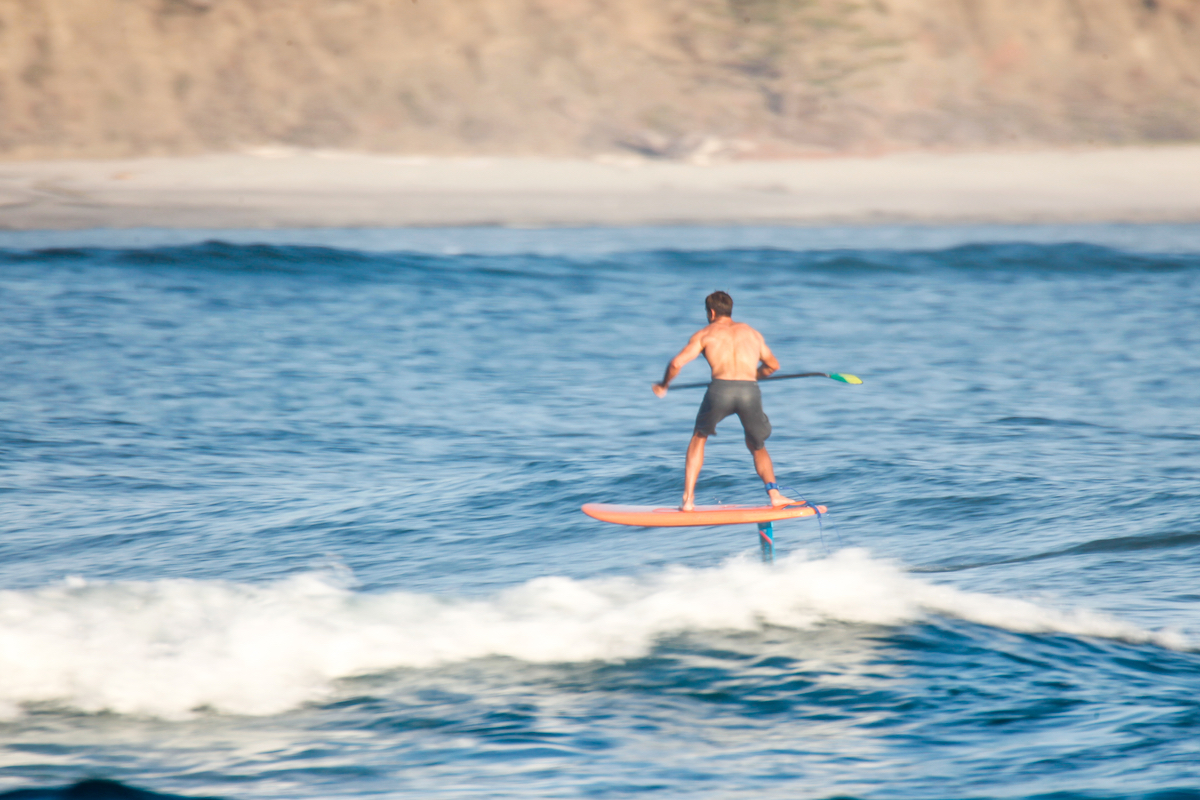 sup foil surfing in nosara