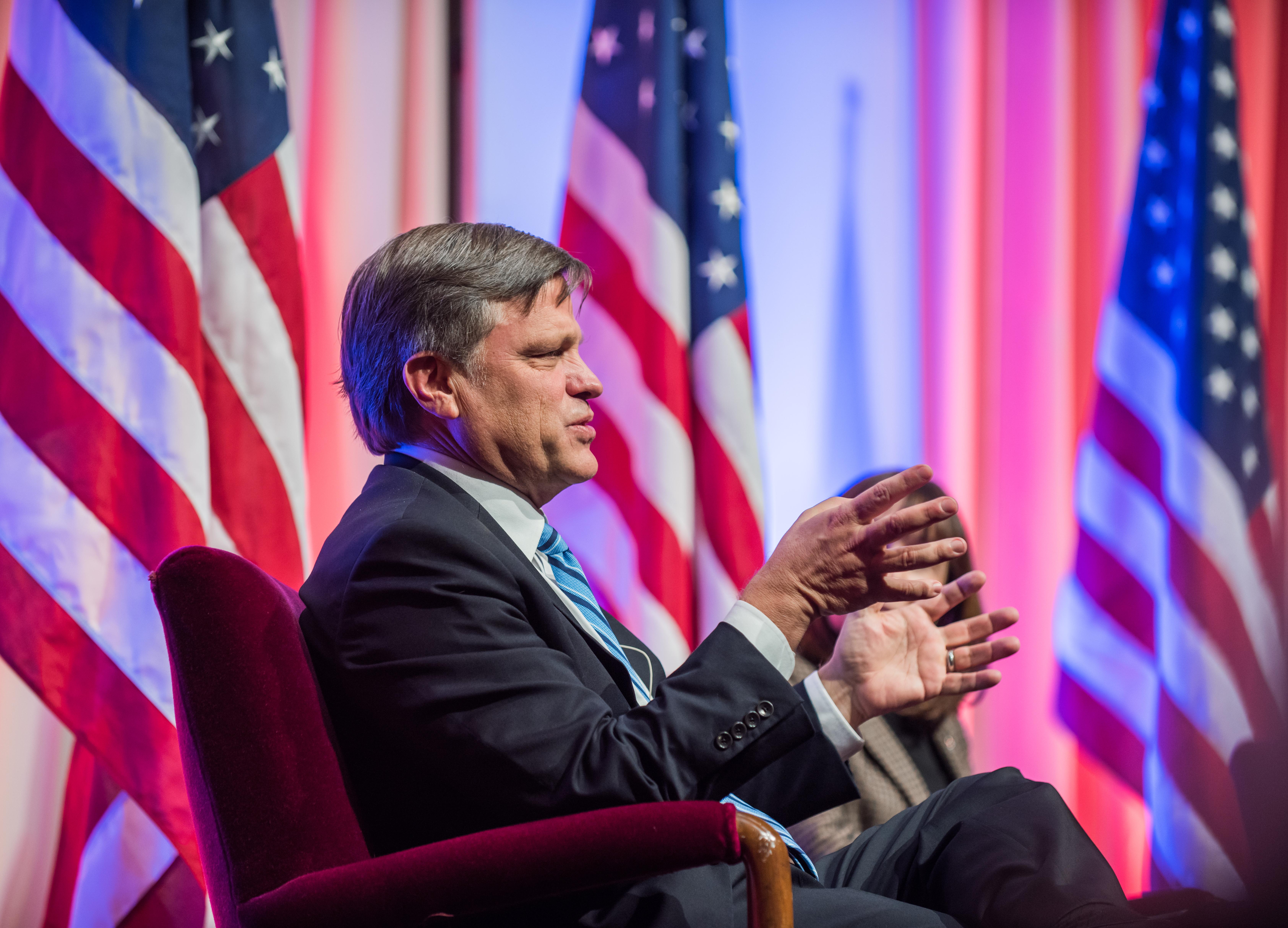 Douglas Brinkley speaking at the Bennett Forum on the presidency 2016