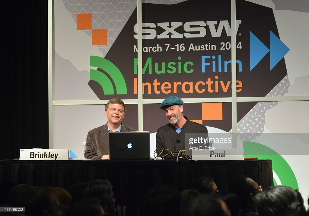 Doug Brinkley as SXSW Moderator Steadman on Skype 2014
