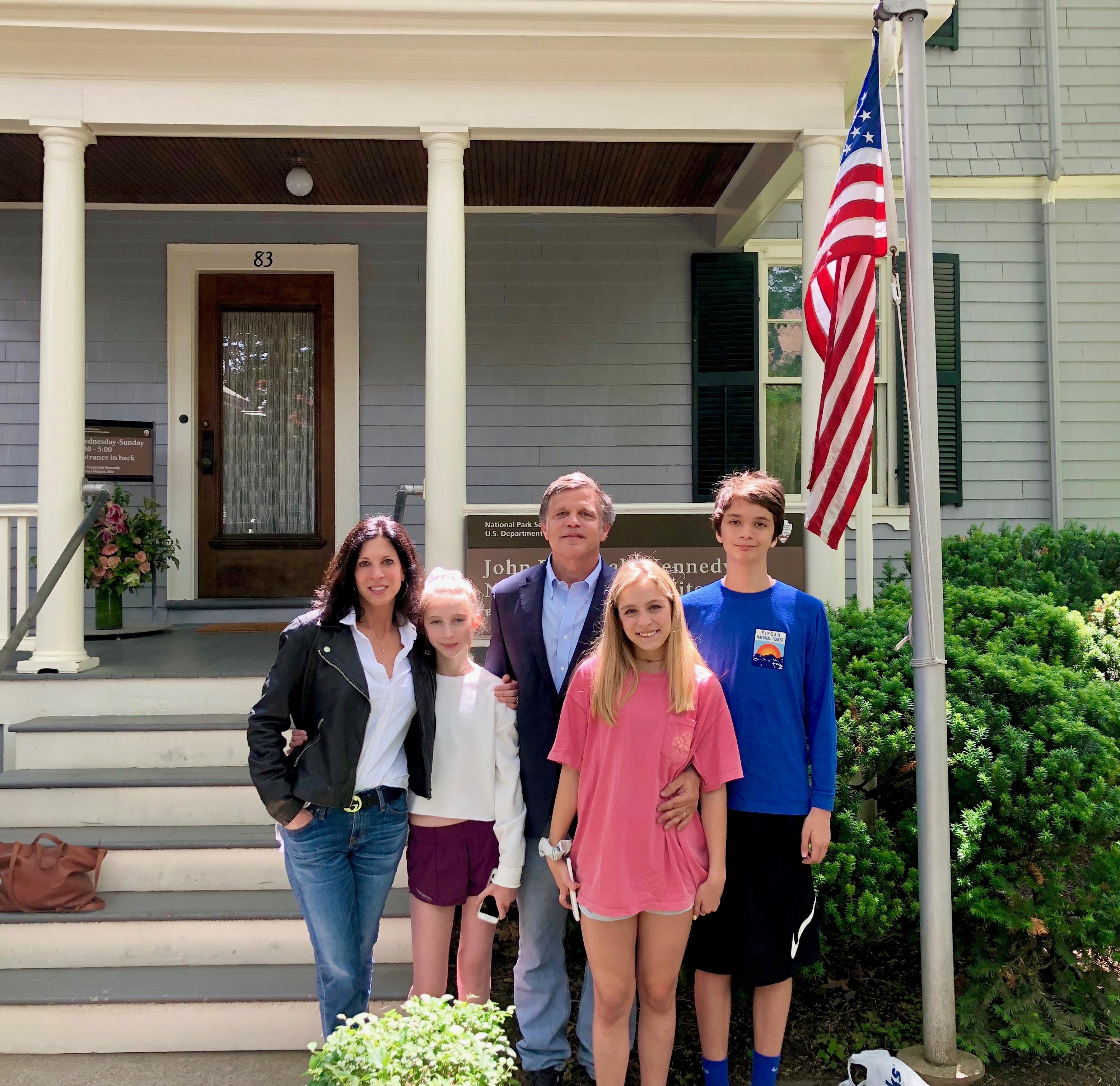 Doug Brinkley and family at John Muir house