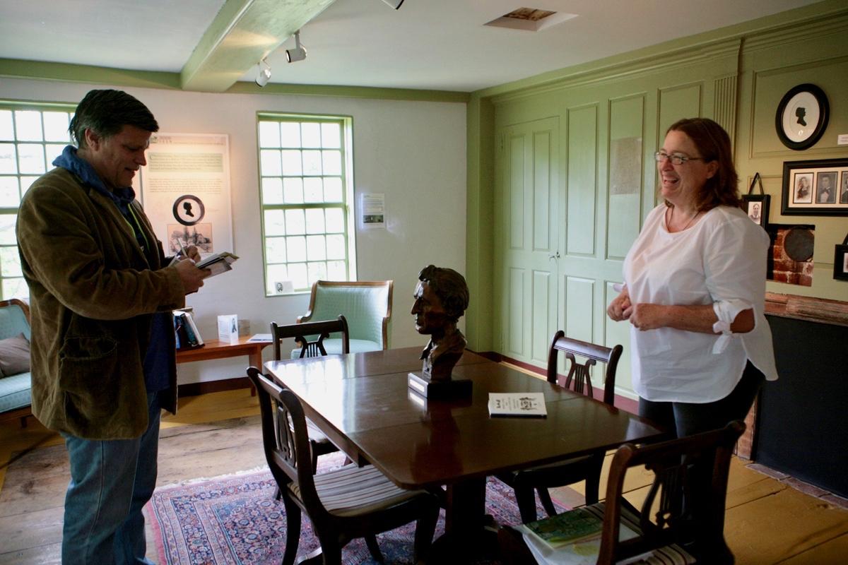 Doug Brinkley with Margaret at Thoreau Birthplace 2017
