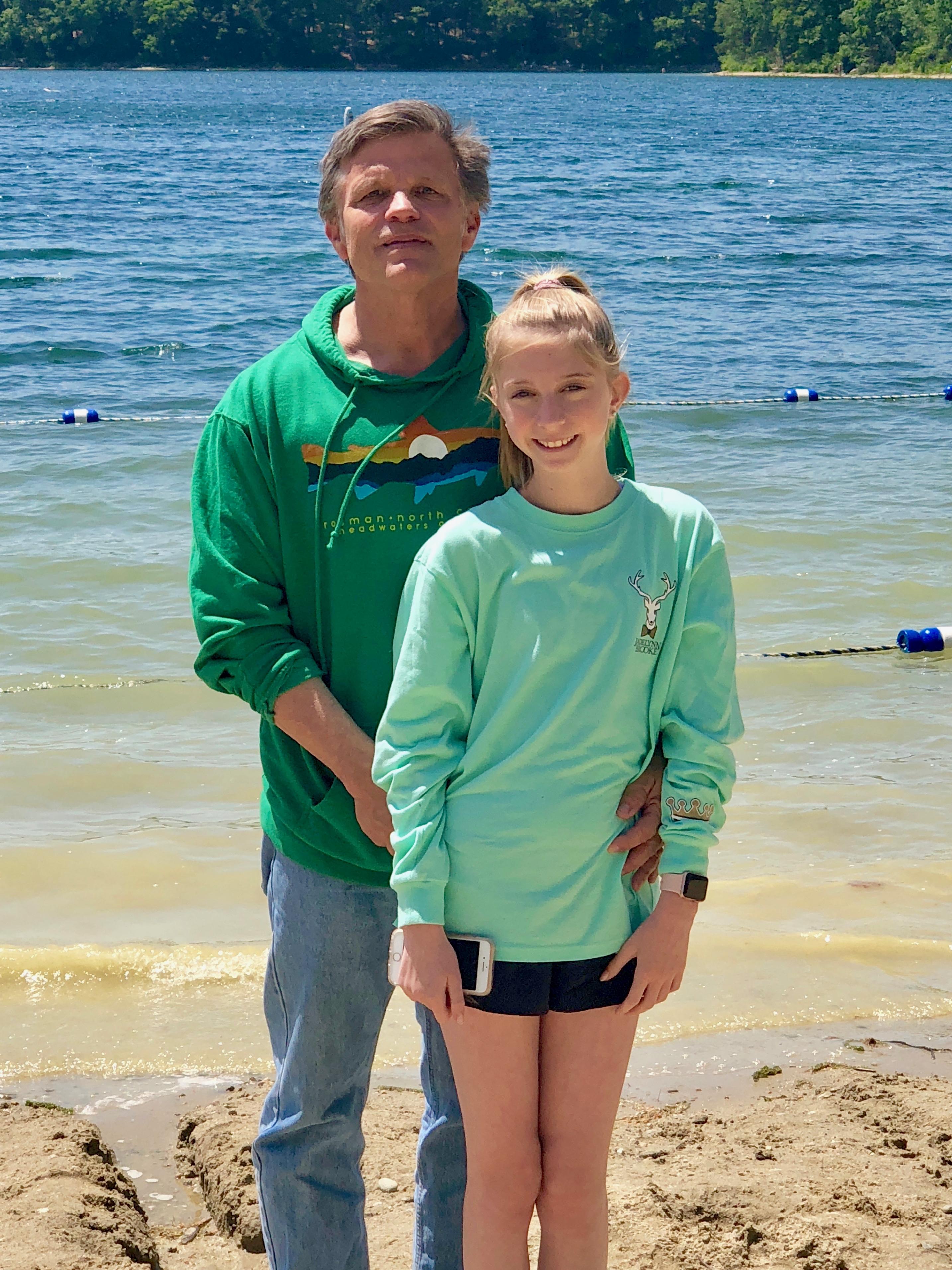 Douglas Brinkley and daughter Cassady