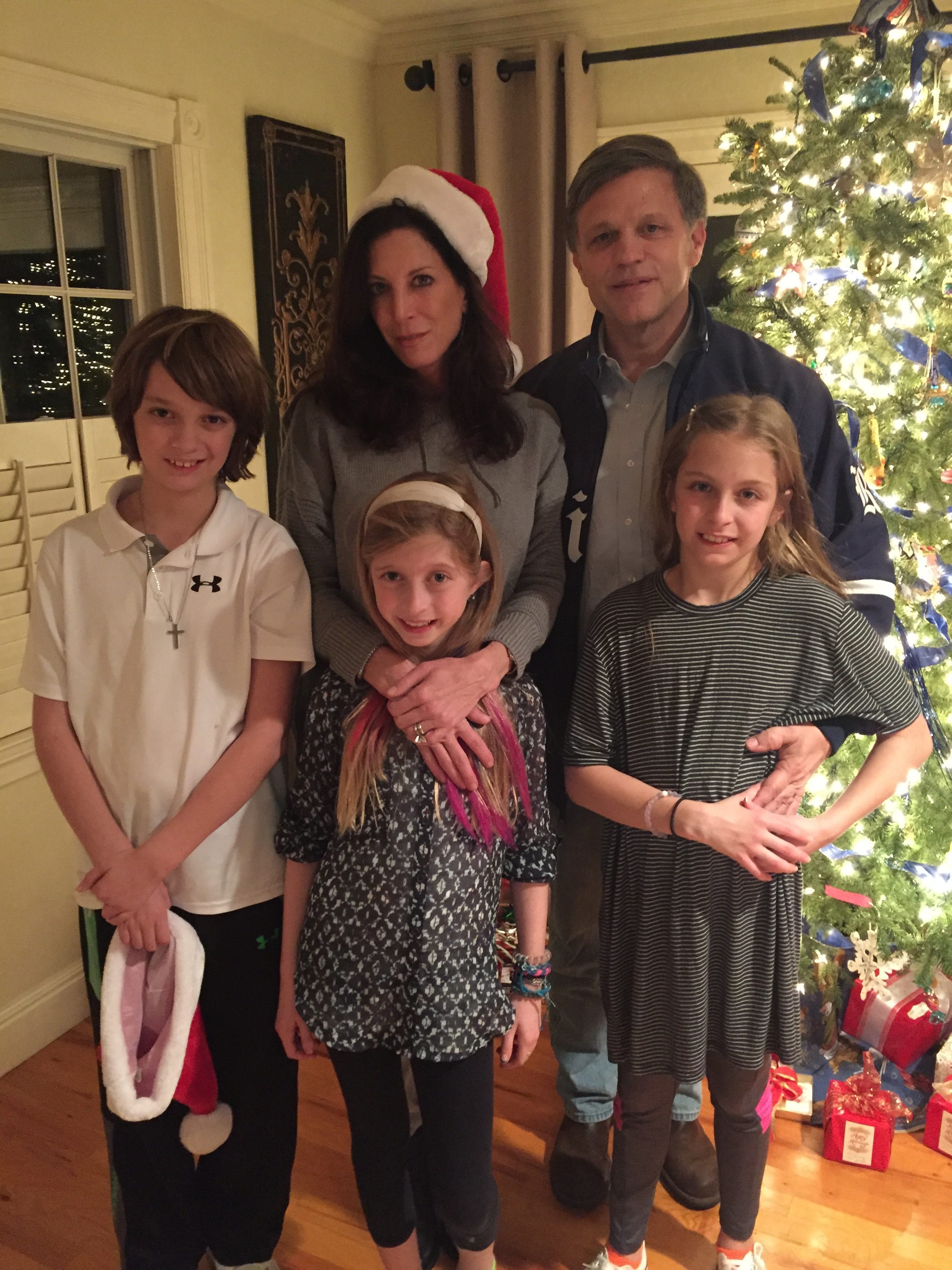 Douglas Brinkley and family during christmas