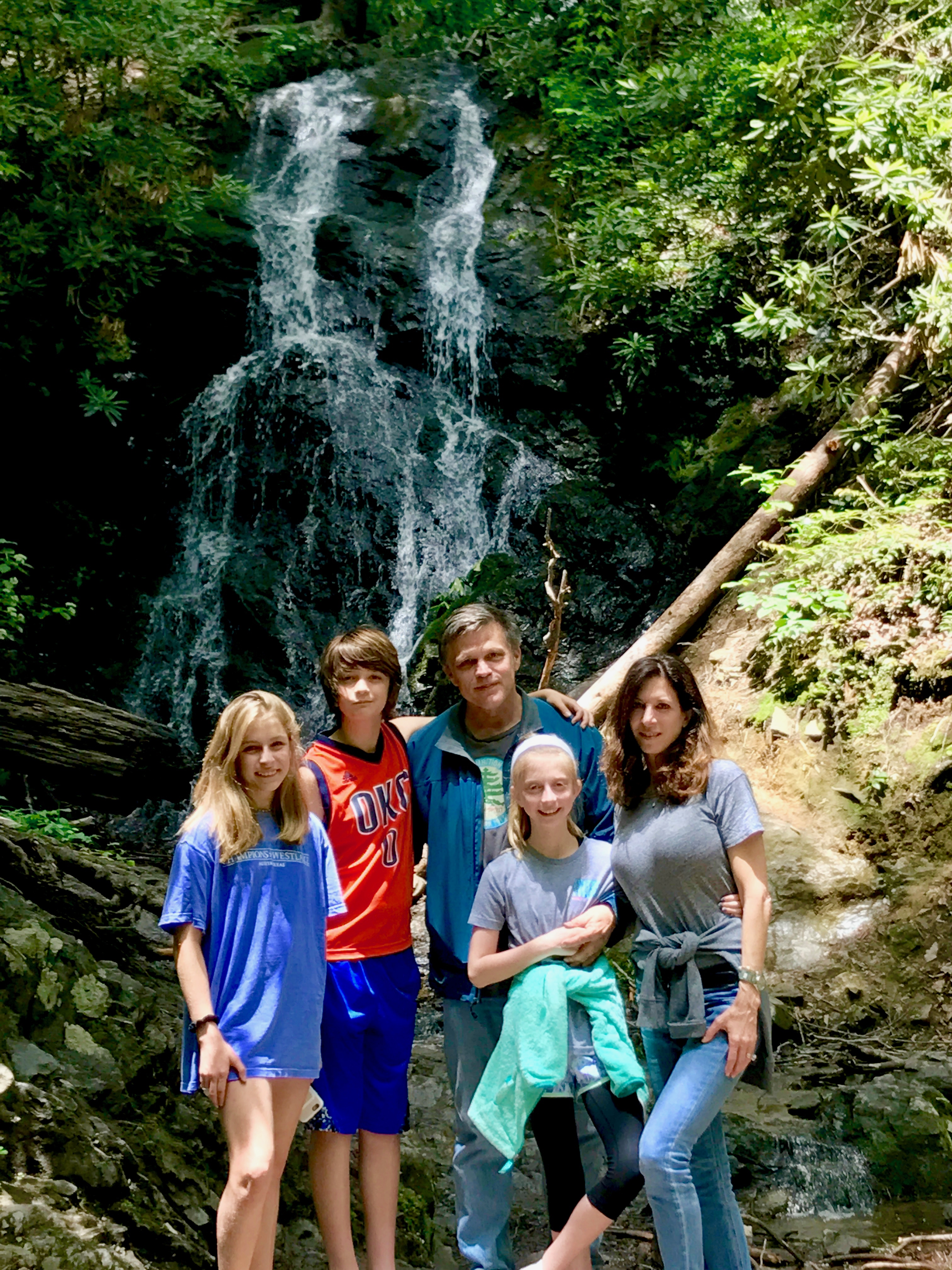 Douglas Brinkley and family hiking
