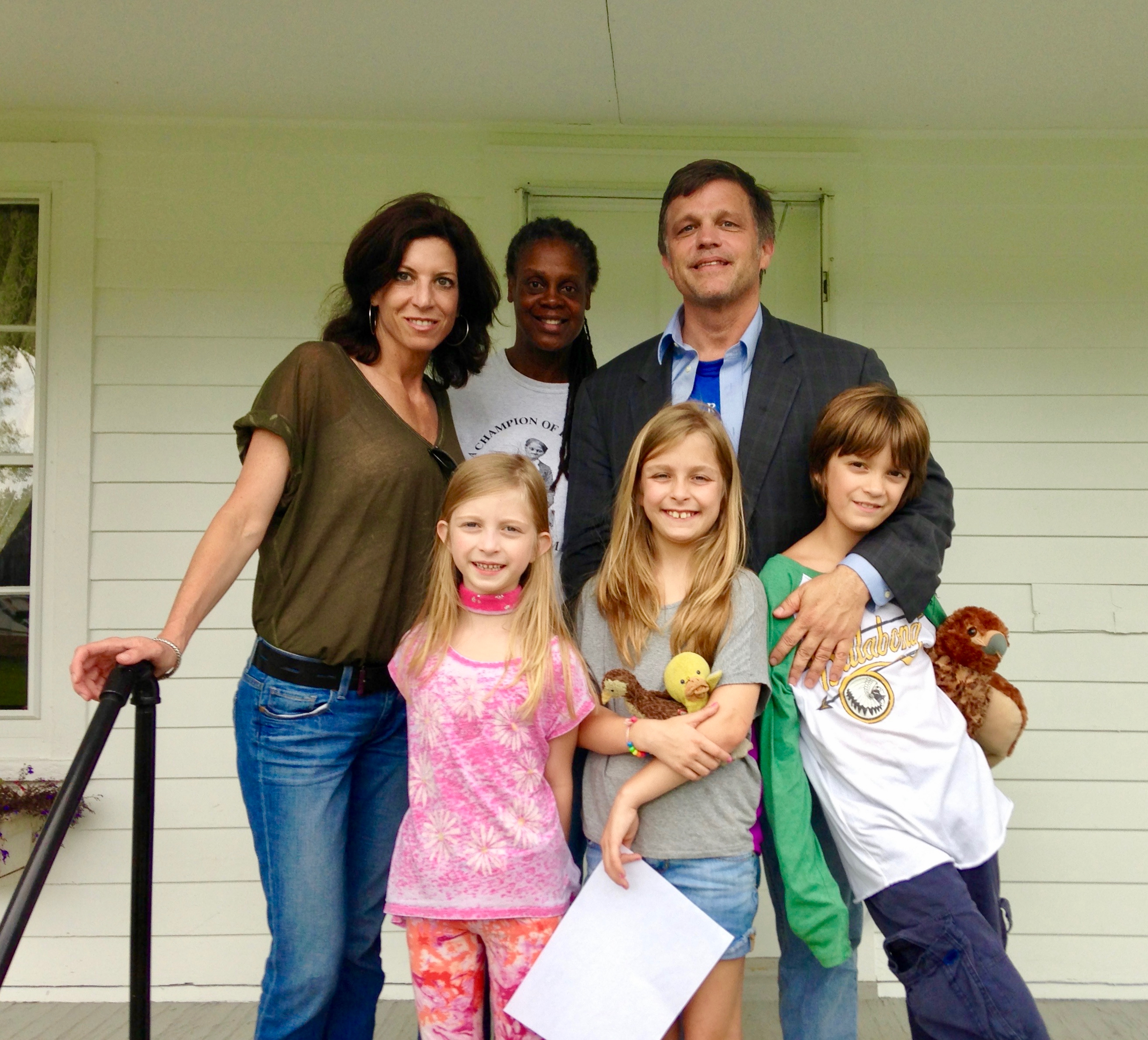 Douglas Brinkley and his family