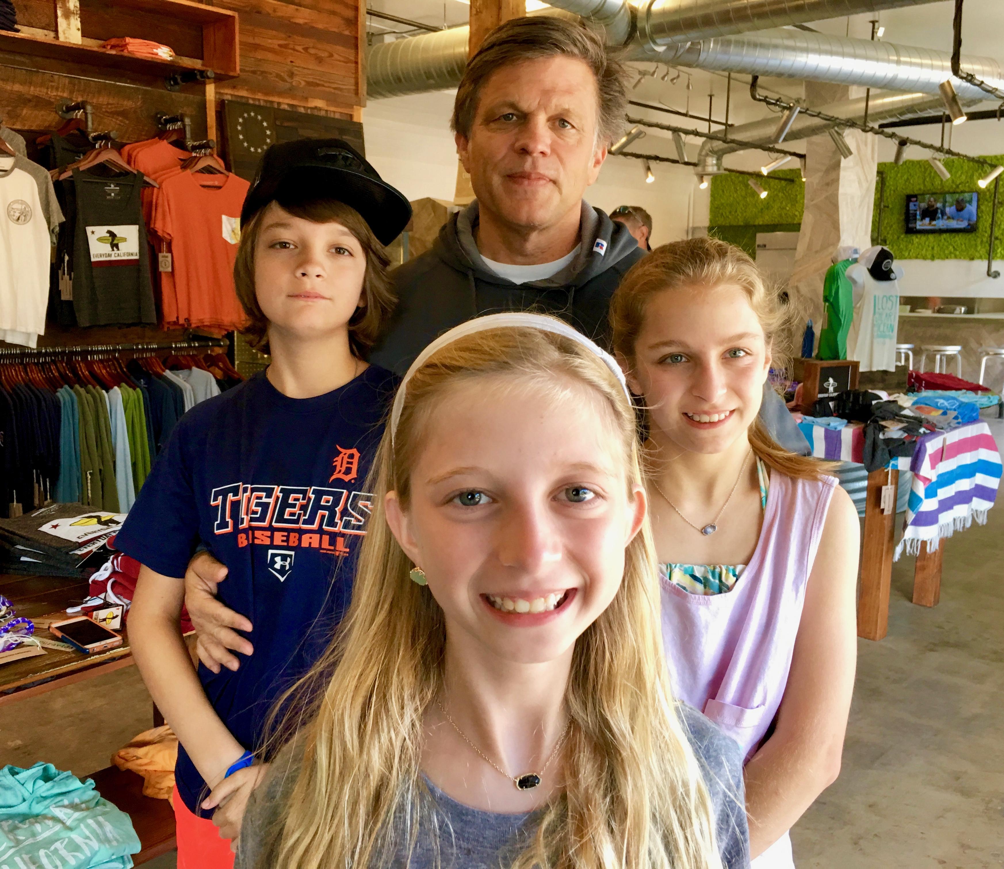 Douglas Brinkley and his kids