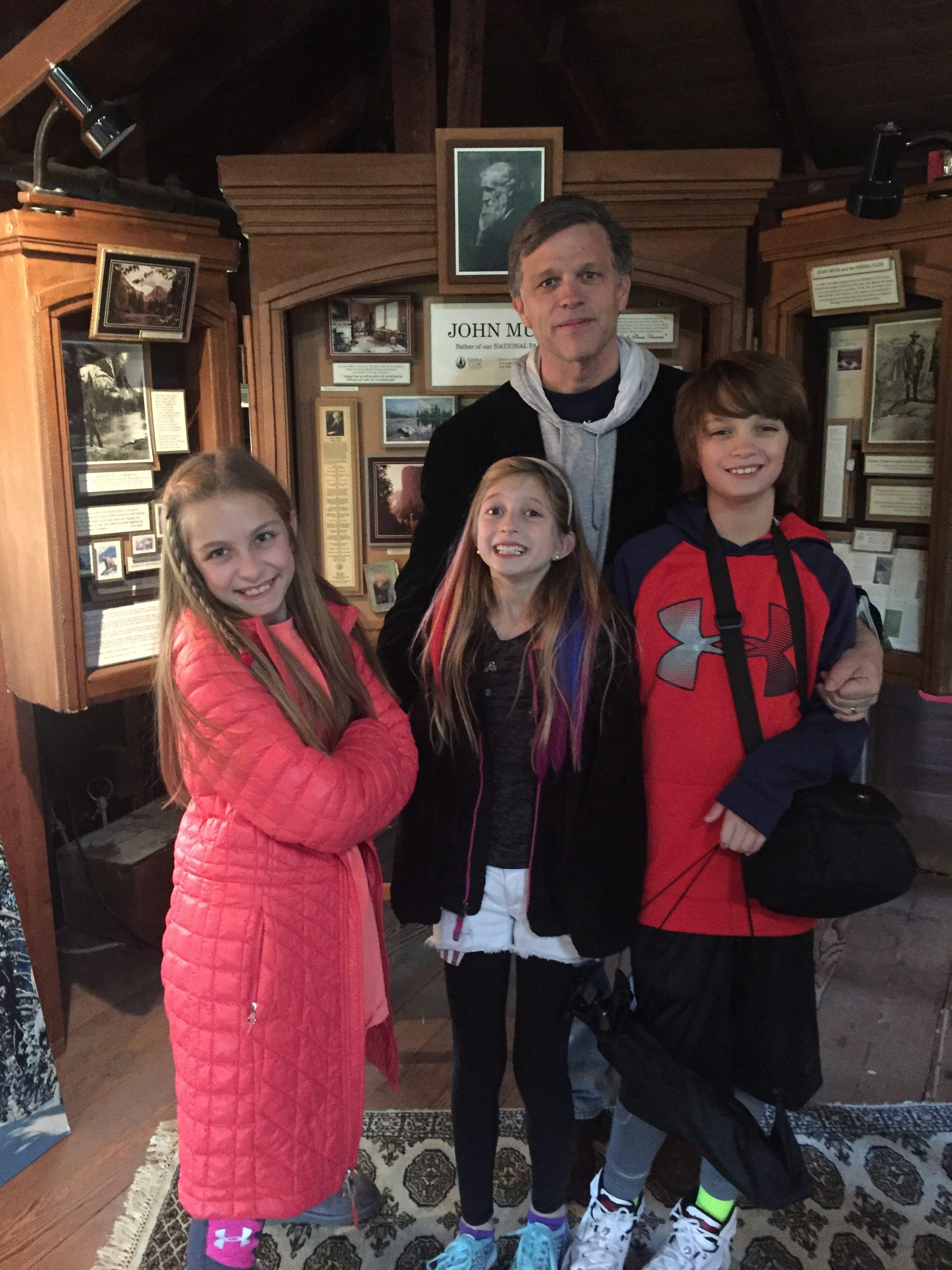Douglas Brinkley and kids at John Muir house
