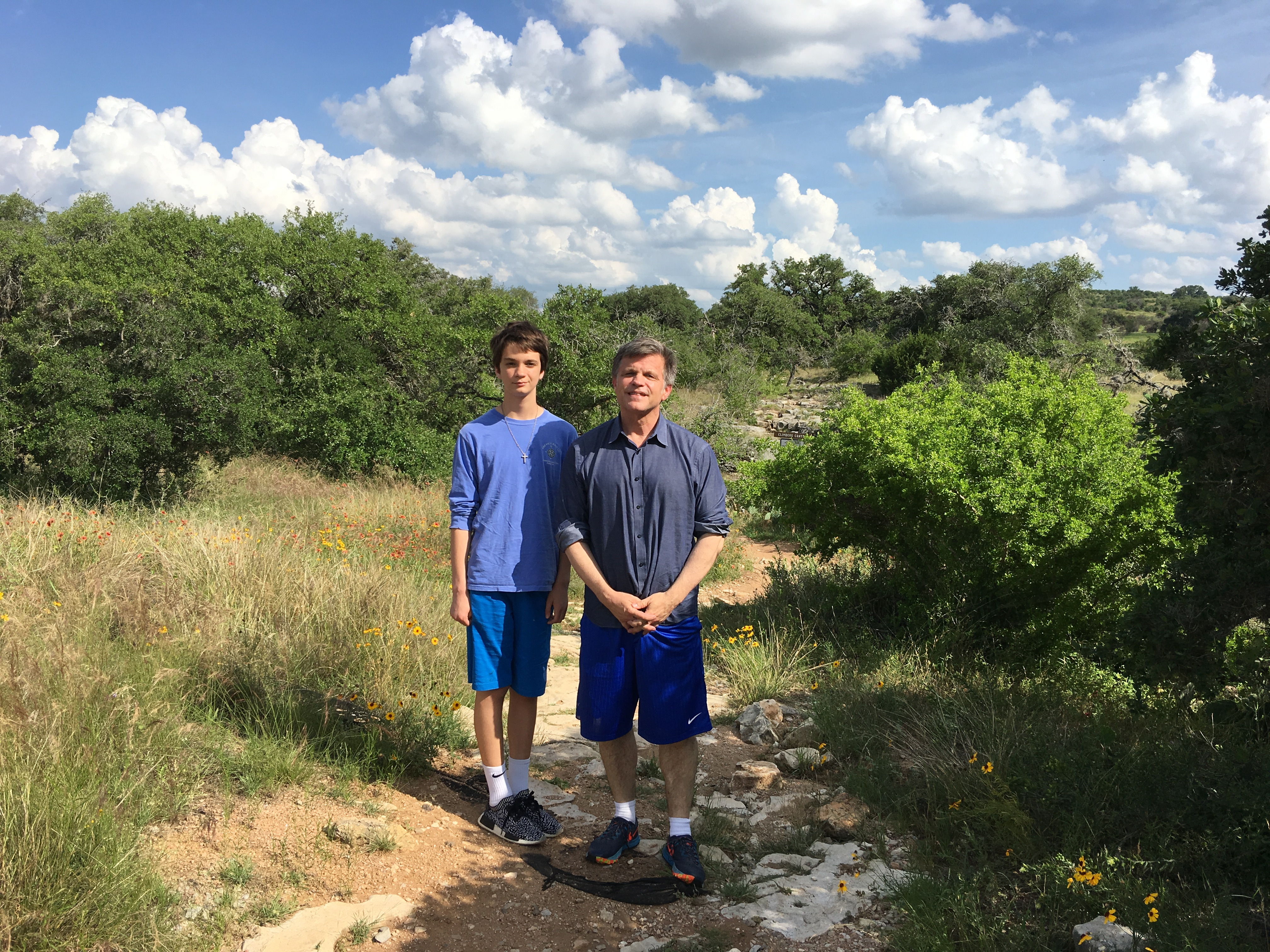 Douglas Brinkley and son Johnny