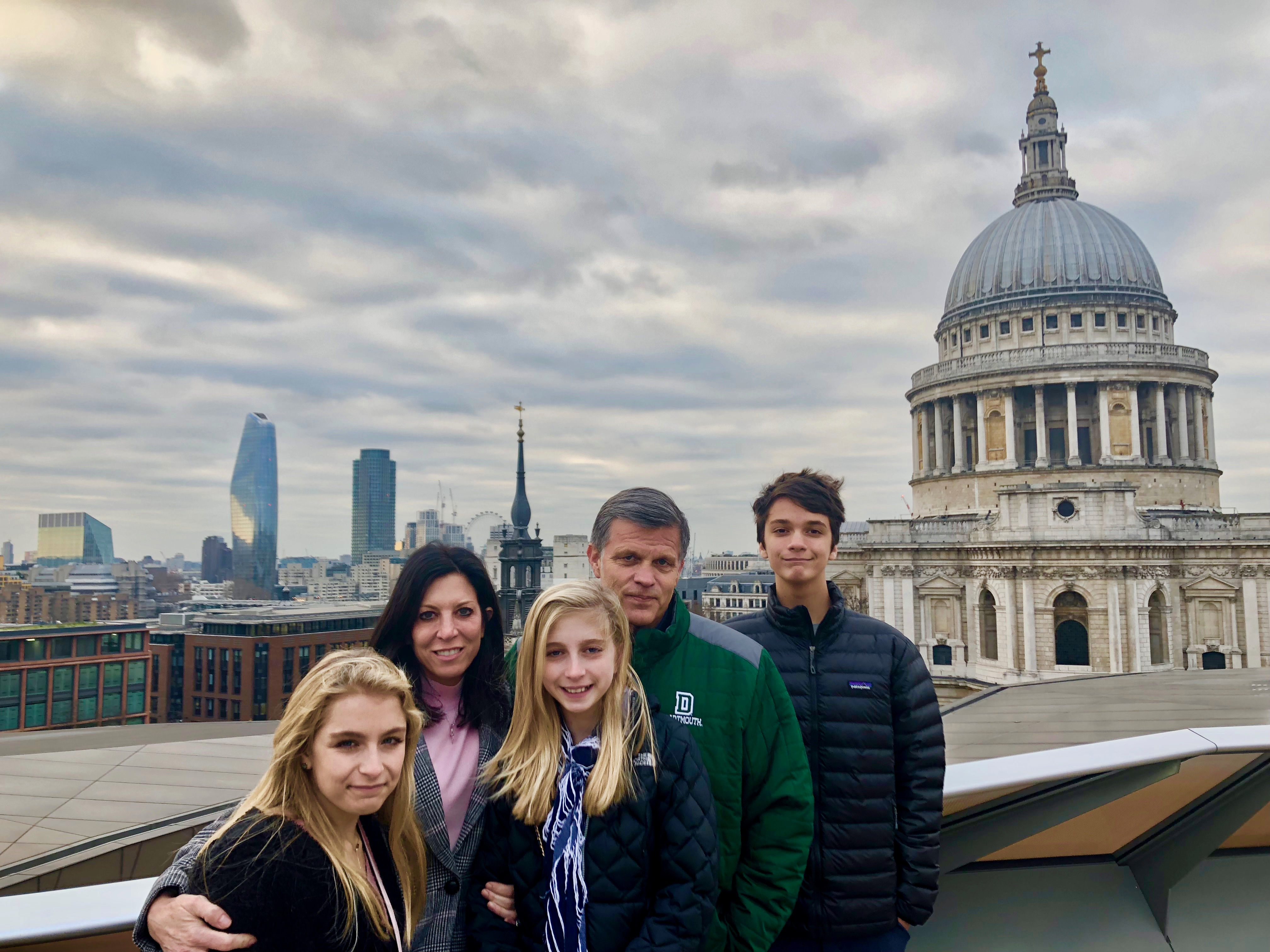 Douglas Brinkley and family in London 2018