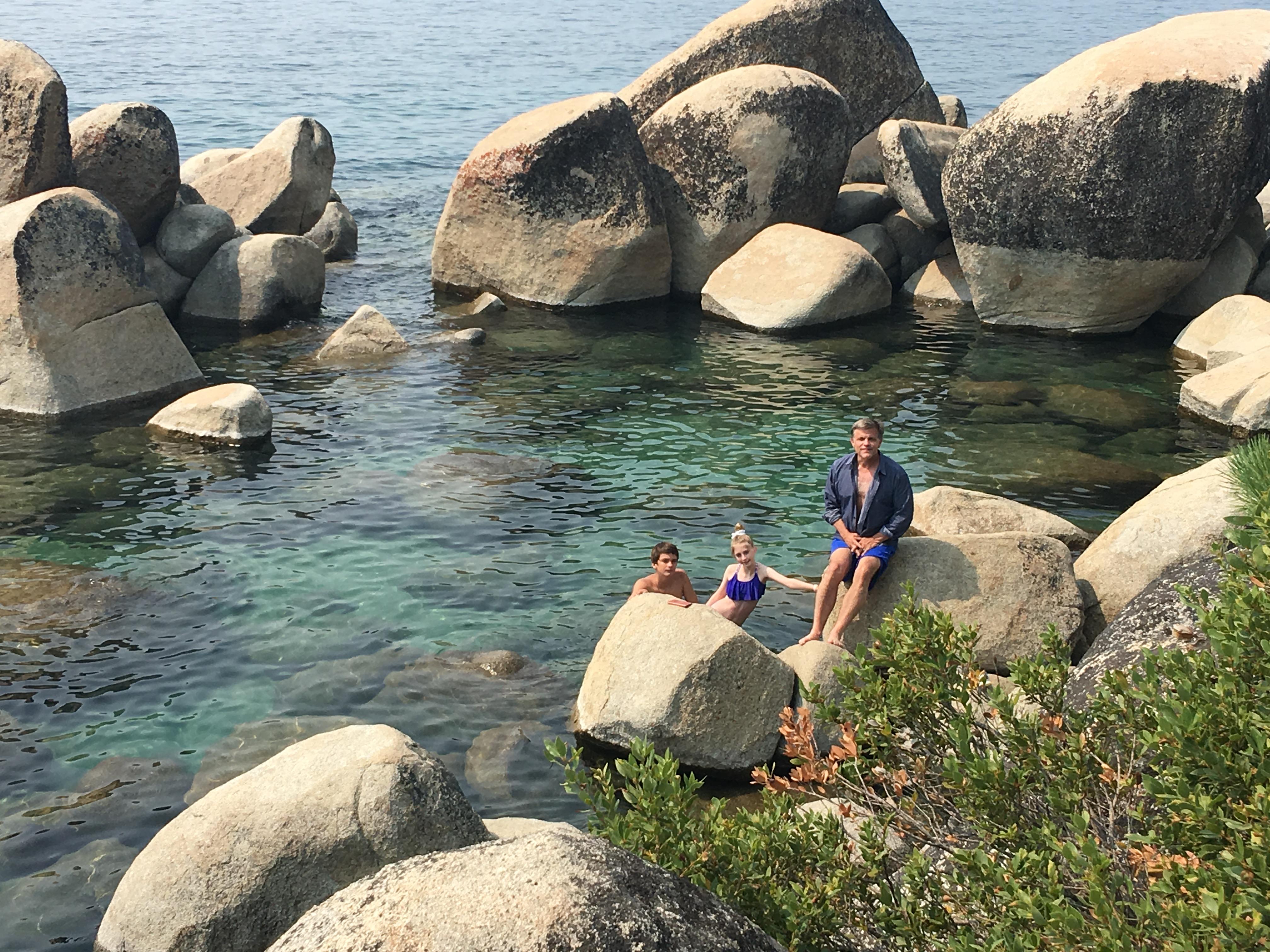 Lake Tahoe 2018 Douglas Brinkley swimming