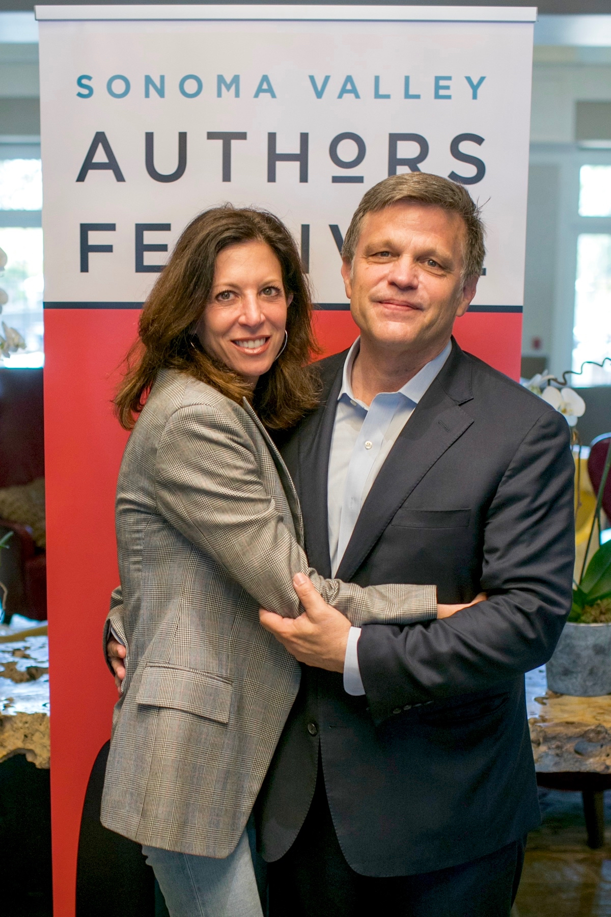 Doug and Anne Brinkley at the Sonoma Author Festival July 2018