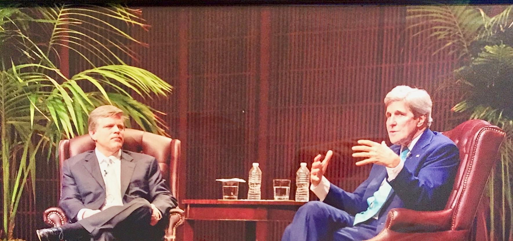 Douglas Brinkley and John Kerry