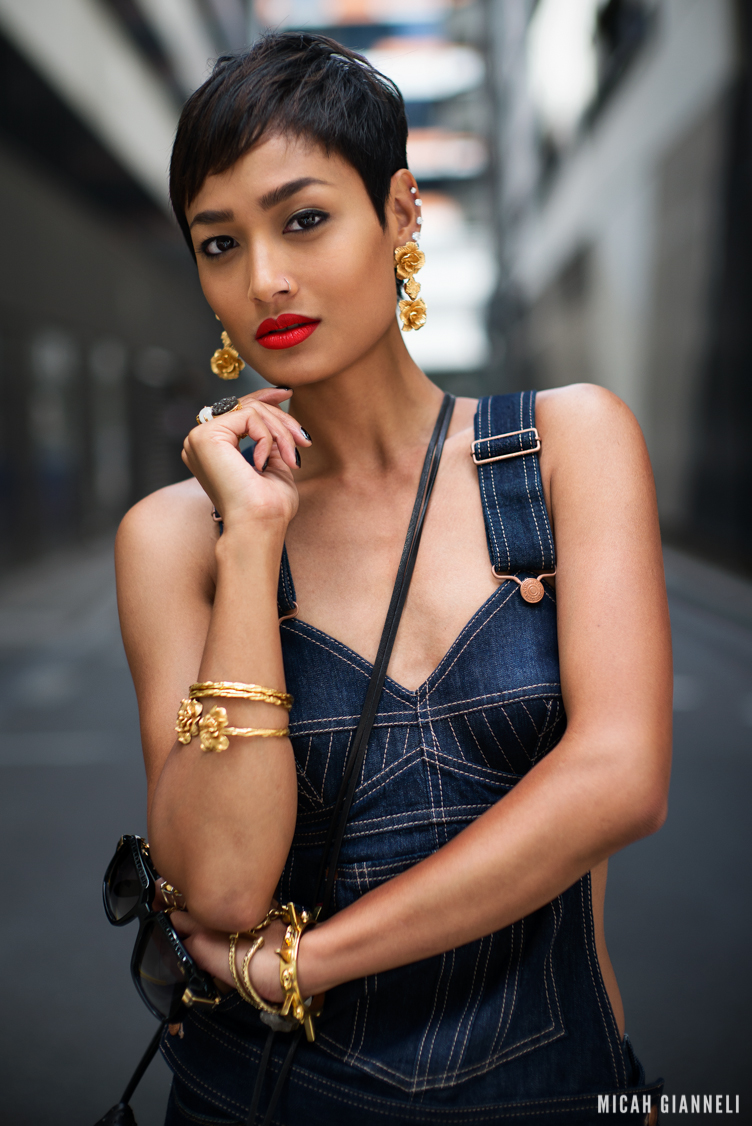 Micah Gianneli_Best top personal style fashion blog_Androgynous model editorial_Rihanna style_Jean Paul Gaultier Levi's_Denim editorial campaign_Cazal_Barbara Bonner_Windsor Smith_Valere Jewellery_
