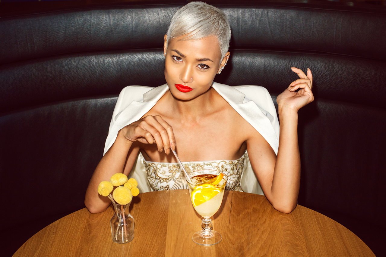 Micah Gianneli_Top fashion style blogger_Cointreau Fizz_Cointreau editorial campaign_Summer editorial_Jesse Maricic photographer_Chic fashion Melbourne French style_Short platinum blonde hair