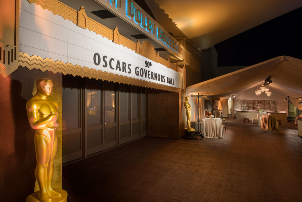 90th Oscars® Governors Ball & A.M.P.A.S.®. Produced and designed by Sequoia Productions. Images by Jerry Hayes Photography.
