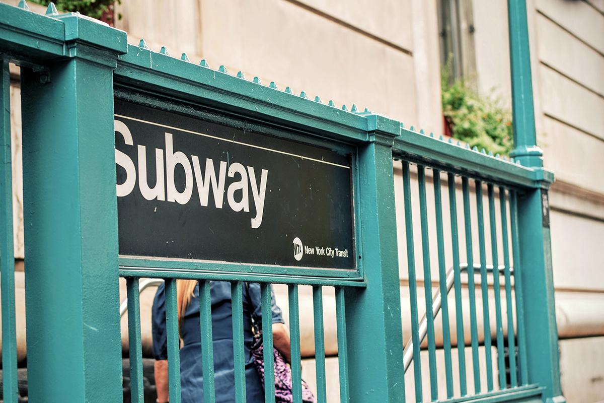 Subway Sign at The Entrance