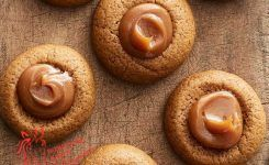 Gingerbread Cookies with Dollop of Carmel!