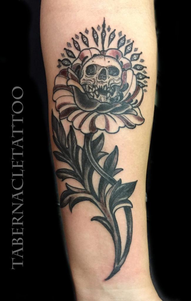 Black work tattoo Tampa Florida