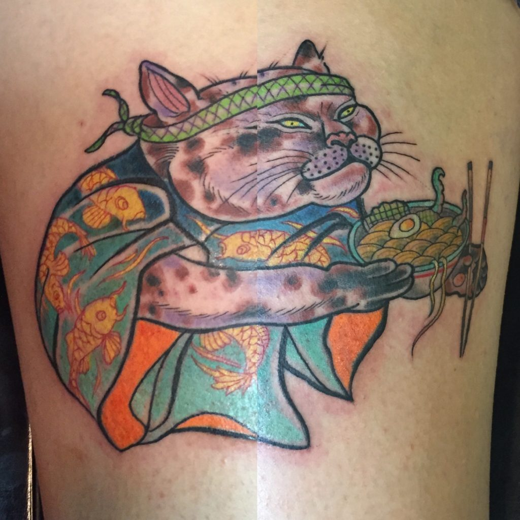Monmon cat tattoo