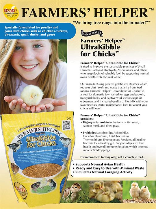 Farmers' Helper™ BabyCake™ & UltraKibble for Chicks™