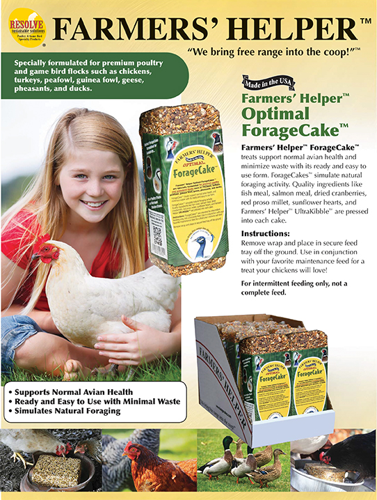 Farmers' Helper™ Optimal ForageCake™ for Mixed Flocks