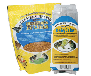 Farmers' Helper™ BabyCake™ & UltraKibble for Chicks™