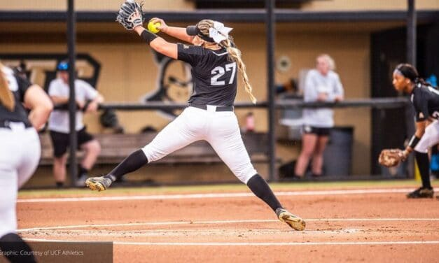 UCF Softball pitcher ALEA White Sets Record in 8-2 Win Over Aggies