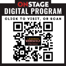 Text that reads On Stage Digital Program click to visit, or scan