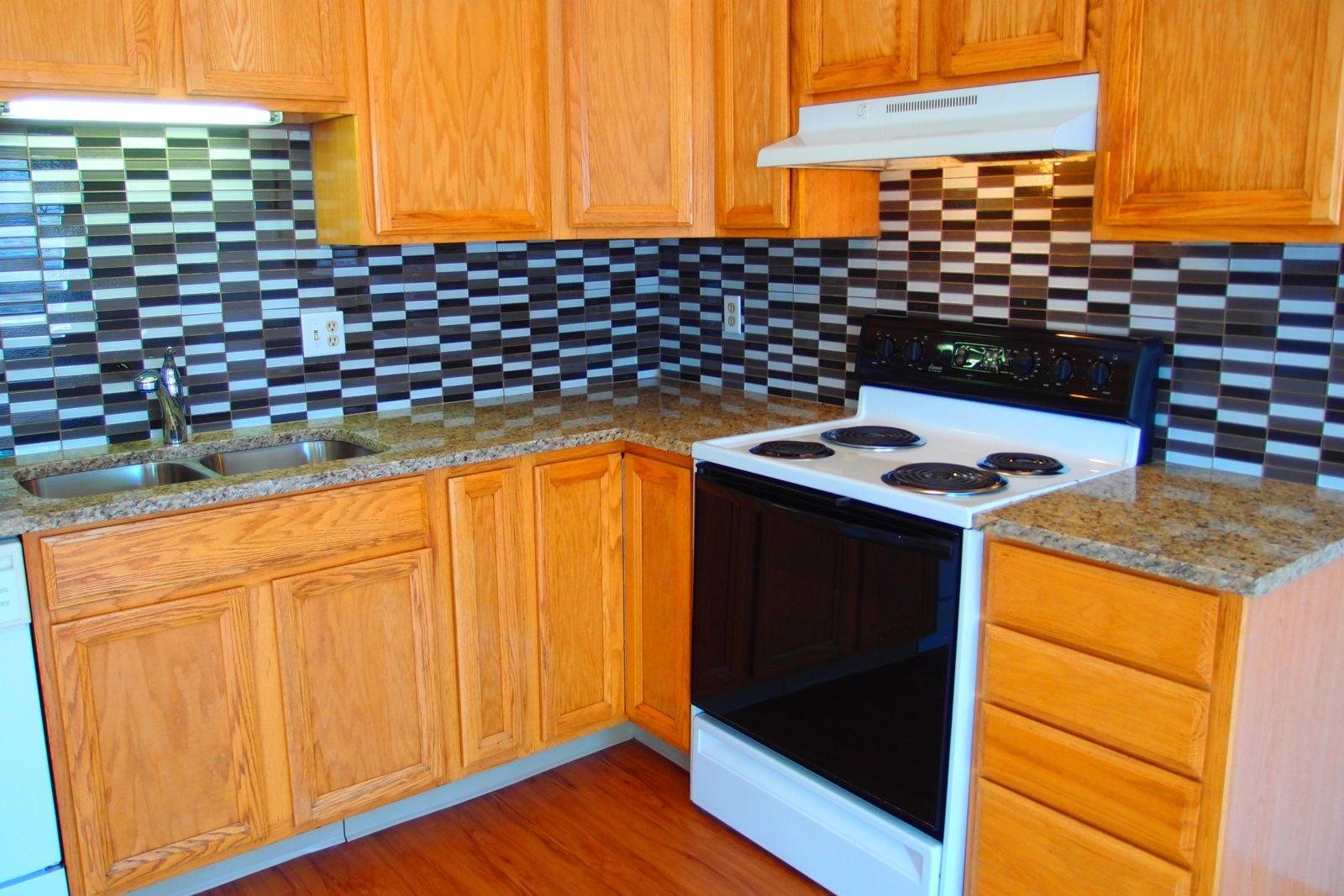 Granite Counter and Tile Backsplash