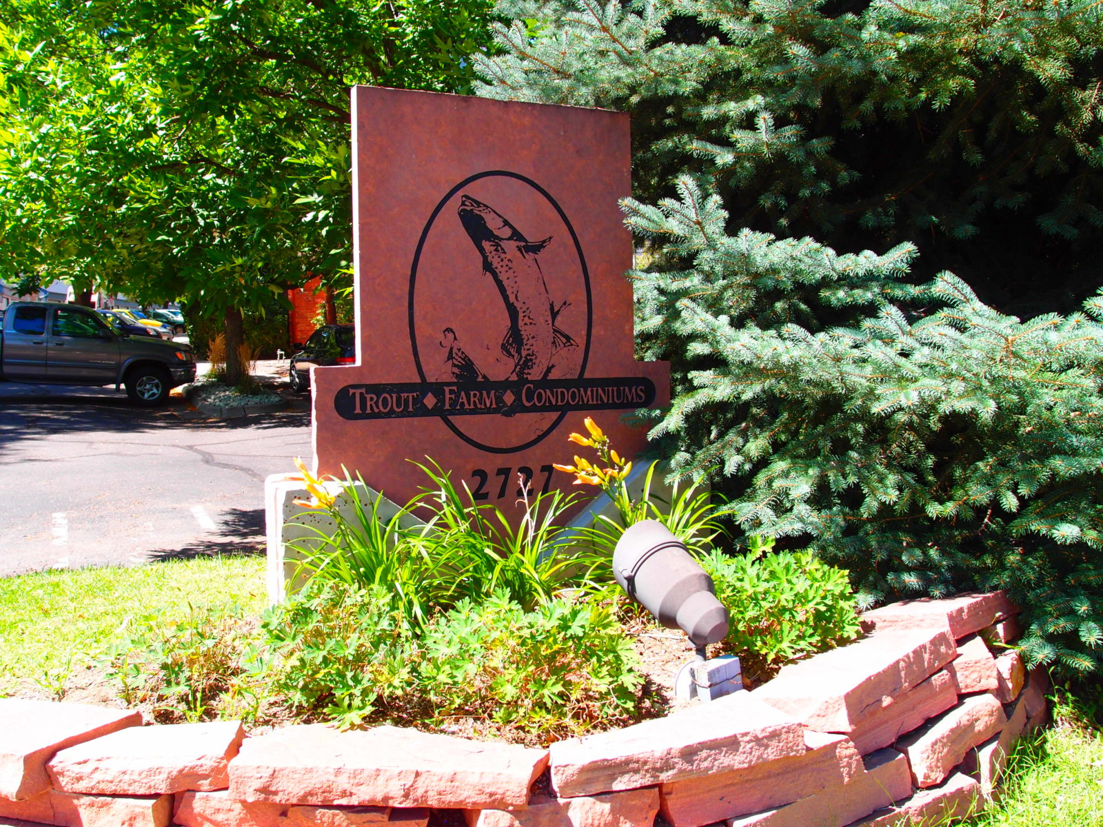Trout Farm sign
