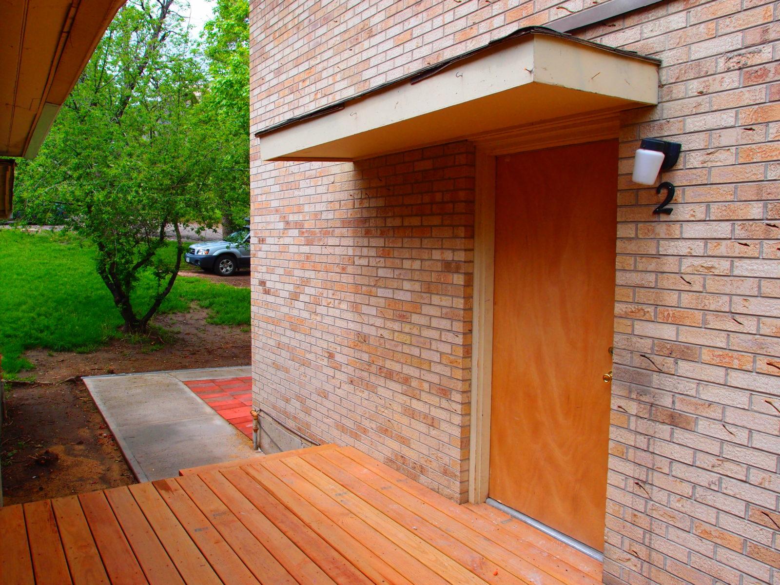 2473 Unit 2 Front Door