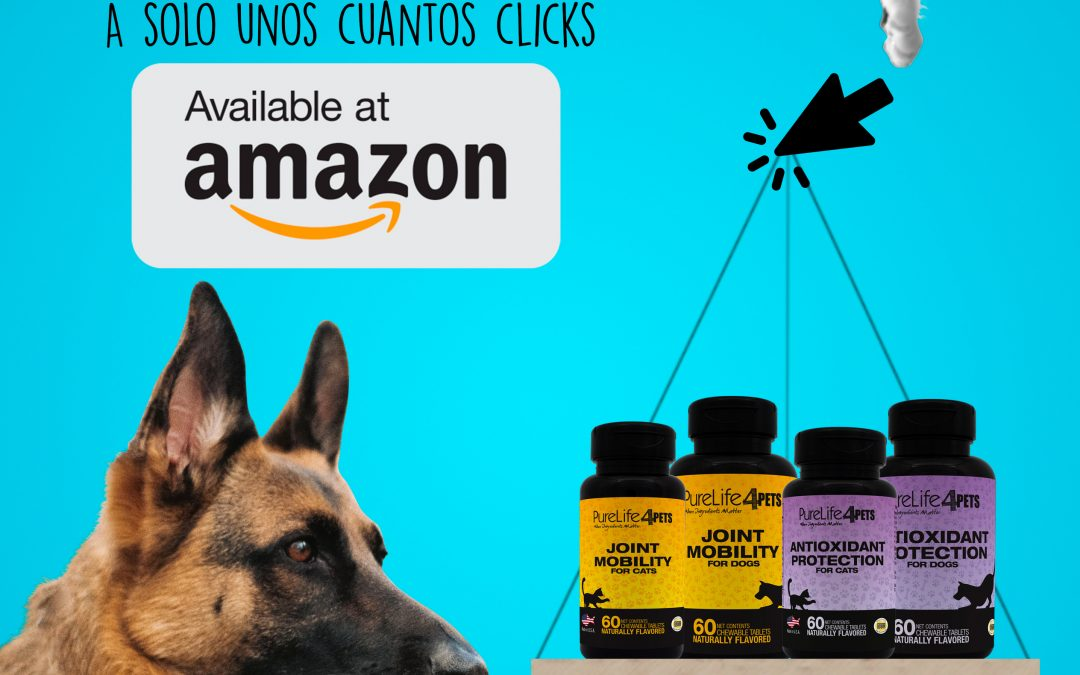Purelife 4Pets now available on Amazon, the world's largest online store