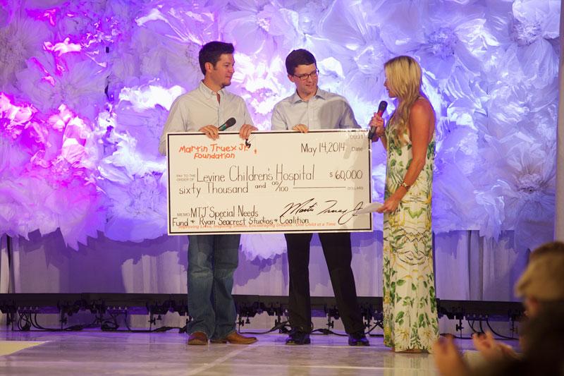 Martin Truex Jr., girlfriend stage fashion show for pediatric cancer
