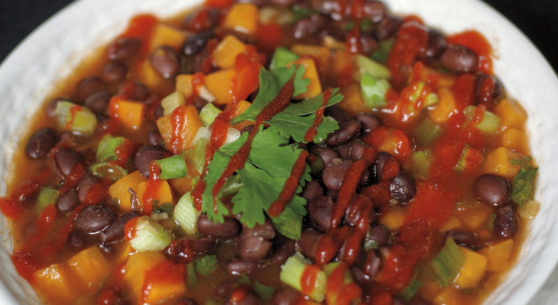 Black Bean Stew with Sweet Potato and Ginger