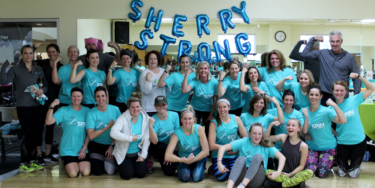 3rd Annual SherryStrong Spin-Along Raises Over $43,000