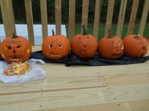 Roasted Pumpkin Seeds - First step have fun with pumpkins