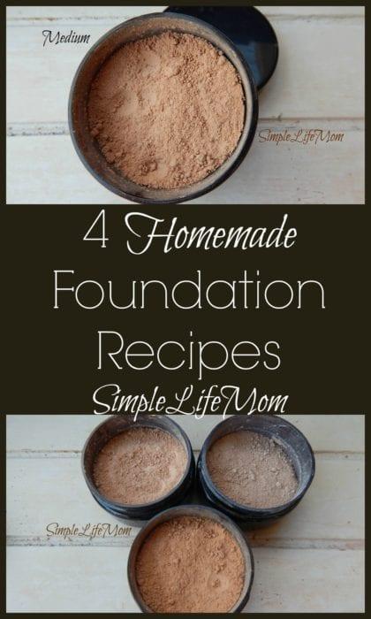 4 Homemade Foundation Recipes from Simple Life Mom