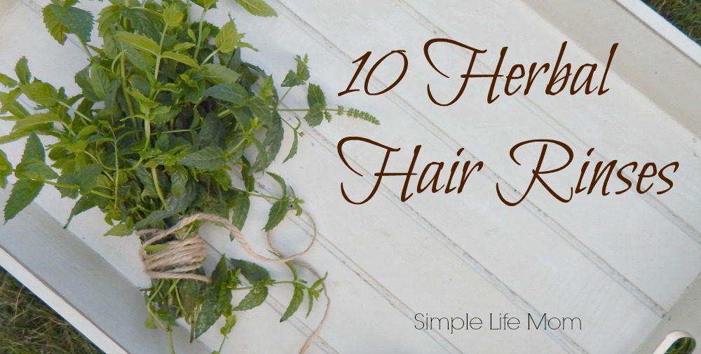 10 Herbal Hair Rinses by Simple Life Mom